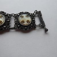 Silver Bracelet .925 with Hand Carved MOP Crosses (9 of 10)