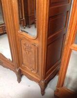 Large Oak French Triple Armoire (4 of 12)