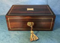 Regency Rosewood Brass Inlaid Jewellery Box (7 of 12)