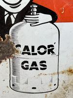 Vintage Original English 1950's Enamel Advertising Sign Calor Gas Stockist (20 of 22)