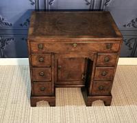 George III Style Burr Walnut Desk c.1920 (3 of 20)