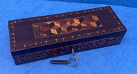 William IV Rosewood Glove Box with Stick Ware & Tunbridge Ware (10 of 14)