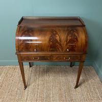 Superb Quality Victorian Antique Cylindrical Mahogany Desk by Maple & Co (5 of 12)