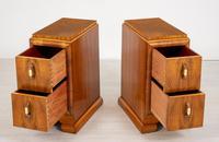 Superb Pair of Walnut Art Deco Bedside Cabinets (3 of 6)