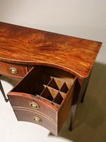 A Particularly Good George III Period Serpentine Mahogany Sideboard. (2 of 5)
