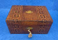Victorian Mahogany Box with Tunbridge Ware Bands (11 of 15)