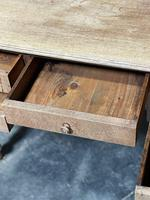 French Bleached Oak Writing Desk (13 of 21)