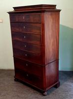 Danish Antique Mahogany Chest of Drawers (4 of 8)