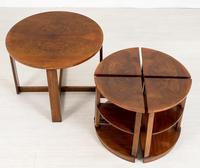 Walnut Art Deco Nest of tables (5 of 7)