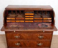 Cylinder Bureau Georgian Writing Desk Chest (3 of 12)