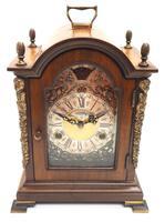 Fine Dutch Walnut Mantel Clock 8 Day Miniature Bracket Clock with Moon Roller (2 of 9)