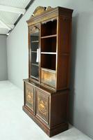 Edwardian Inlaid Rosewood Bookcase (6 of 12)