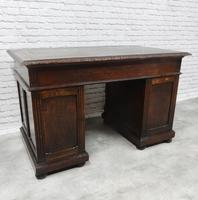 Small Carved Oak Green Man Desk (8 of 10)