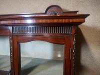 Edwardian Carved Mahogany Display Cabinet / China Cabinet (9 of 13)