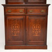 Antique Victorian Inlaid Mahogany 2 Section Bookcase (5 of 11)
