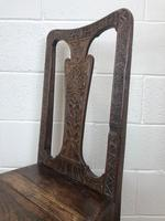 Antique Victorian Carved Oak Chair (5 of 14)