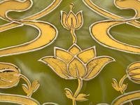 Antique Art Nouveau Loetz Art Glass Round Gilt Floral Trinket Box (25 of 33)