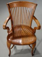 Well-Formed Early 20th Century Golden Oak Desk Chair (5 of 5)