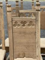 Set 8 Oak Farmhouse Dining Chairs (9 of 14)