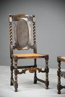 Pair of Oak Cane Hall Chairs (2 of 11)
