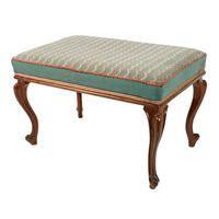 Victorian Oblong Rosewood Stool (3 of 7)