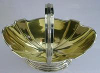 Heavy Solid Sterling Silver English Swing Handled Bowl Basket 1906 172g Antique (4 of 7)