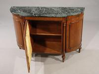 Attractive Early 20th Century Bow Ended Regency Style Mahogany Side Cabinet (2 of 5)