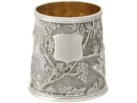 Chinese Export Silver Christening Mug - Antique c.1800 (5 of 12)