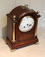 Mahogany and Inlay Bracket Clock (4 of 13)