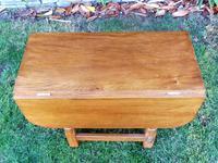 X Mouseman Beaverman Oak Drop Flap Coffee Table (10 of 12)