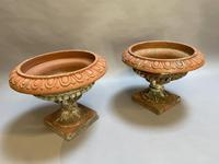 Pair of Terracotta Campana Garden Urns (7 of 13)