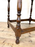 Early 20th Century Antique Oak Carved Side Table (6 of 10)