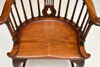 Antique Victorian Mahogany Captains  Desk Chair (5 of 11)