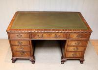 Large Mahogany Pedestal Desk (5 of 12)