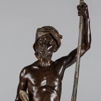 Magnificent 19th Century French Bronze Sculpture of Arabian Sentinel, Signed J.Angles (16 of 19)