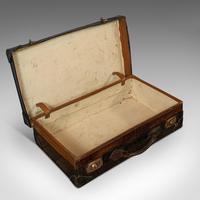 Antique Suitcase, English, Leather, Travel, Salesman, Officer, Case, Edwardian (8 of 10)