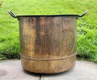 Large Sturdy Solid Copper Bin c.1900