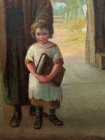 'Sunday Morning' An Enchanting Original 19thc Portrait Oil Painting' (3 of 14)