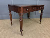 Victorian Mahogany 2 Drawer Reeded Leg Writing Table (2 of 15)