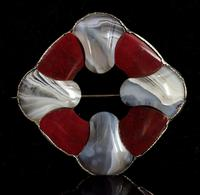 Victorian Scottish Agate and Silver Brooch (5 of 7)