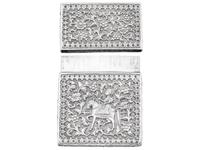 Indian Silver Card Case - Antique c.1880 (3 of 9)