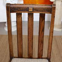 Oak Gateleg Dining Table & 4 Chairs Arts Crafts (8 of 17)