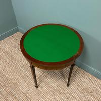 Elegant Small Edwardian Antique D End Games / Side Table (2 of 6)