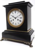 Antique French Slate & Ormolu Mantel Clock striking 8 day (9 of 11)
