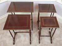Stunning 19th Century Mahogany Nest of Four Tables (7 of 7)