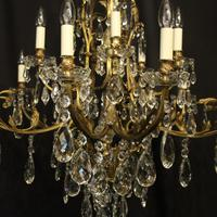 French Gilded Bronze 16 Light Antique Chandelier (2 of 10)