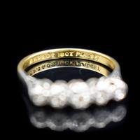 Antique Art Deco Diamond Five Stone 18ct 18k Yellow Gold and Platinum Ring (10 of 10)