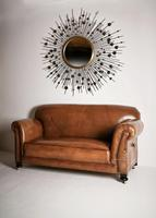 Late Victorian Leather Upholstered Drop-Arm Sofa (7 of 9)