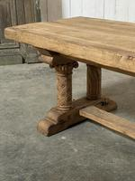 Extremely Rare Large Oak Refectory Table (13 of 35)