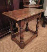 Antique George II Style Oak Joint Stool (2 of 5)